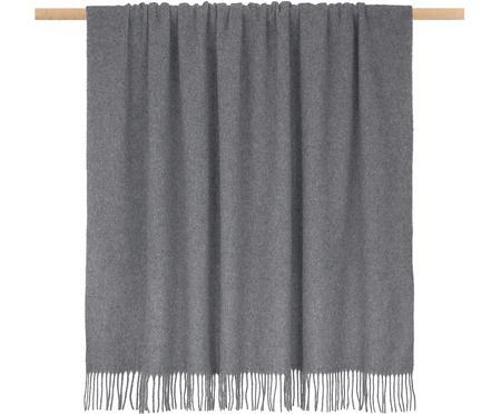 Plaid in lana leggero con finitura a frange Patriciu