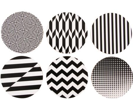 Onderzetter set Black and White, 6-delig.