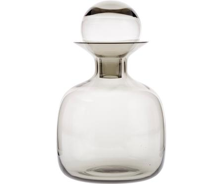 Carafe couleur gris/transparent faite main Colored