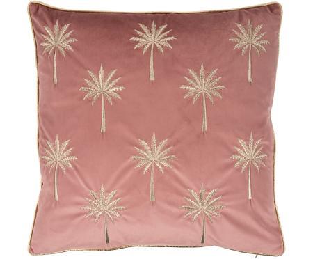 Haftowana poszewka na poduszkę z aksamitu Palms