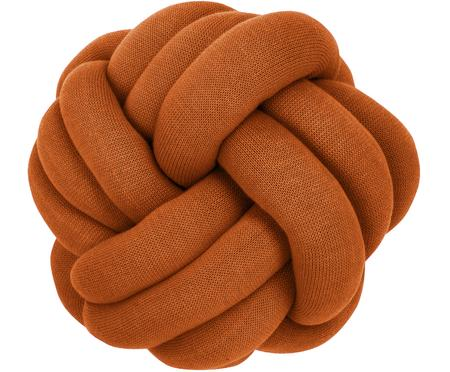 Knoten-Kissen Twist in Terrakotta