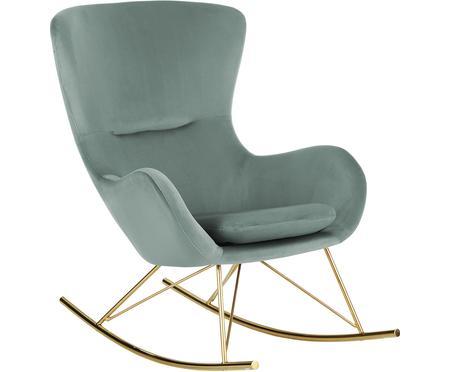 Krzesło bujane z aksamitu Wing