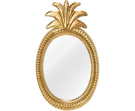 Specchio da parete con cornice in ottone Ana
