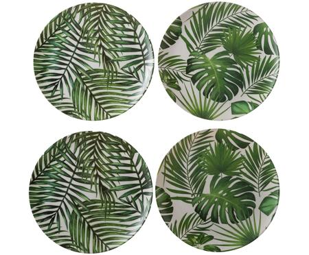 Set piatti da colazione in bambù Tropical, 4 pz.