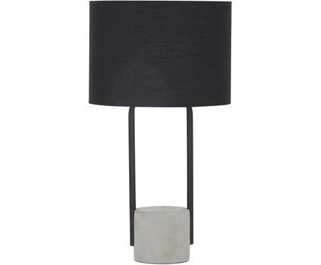 Große Tischlampe Pipero mit Betonfuß