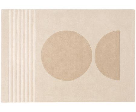 Handgetufteter Wollteppich Bent mit geometrischem Muster