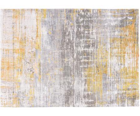 Designteppich Streaks in Grau/Gelb