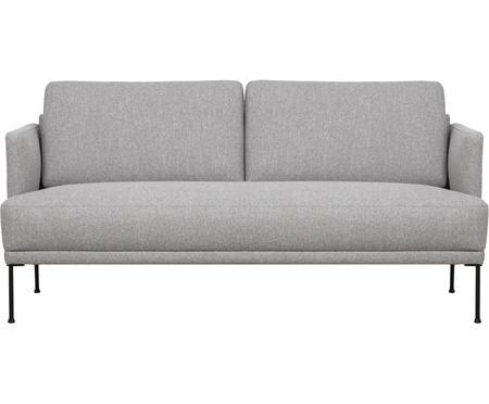 Sofa Fluente (2-Sitzer) in Hellgrau mit Metall-Füßen