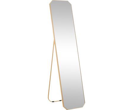 Eckiger Standspiegel Bavado mit Goldrahmen