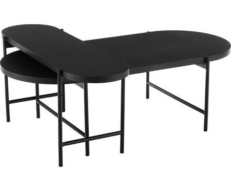 Tables basses avec plateau en bois Mica, 2élém.
