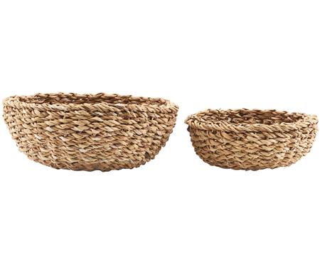 Set 2 cestini per pane in fibra naturale Tango