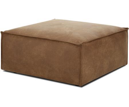 Poggiapiedi da divano in pelle Lennon