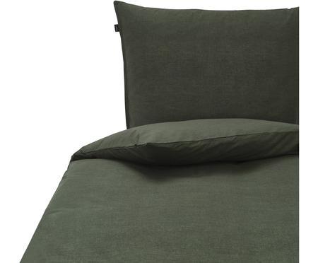 Bettwäsche Birk aus Bio-Baumwolle in Grün