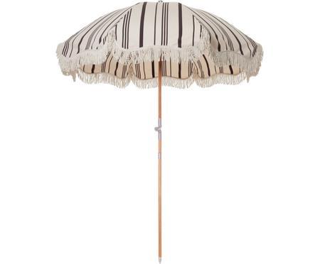 Gestreifter Sonnenschirm Retro mit Fransen, abknickbar