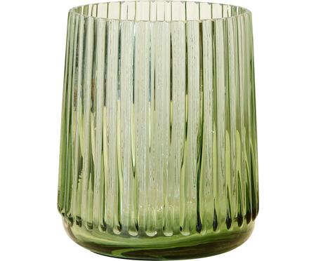 Vaso in vetro Ribbed