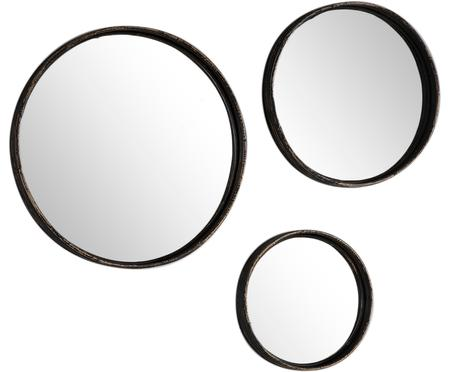 Komplet okrągłych luster ściennych Ricos, 3 elem.