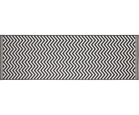 Tapis intérieur extérieur réversible, imprimé zigzag Palma