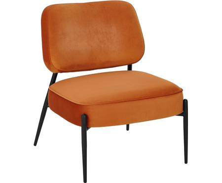 Fauteuil lounge en velours Viggo