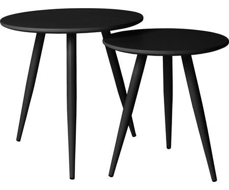 Bijzettafelset Colette, in zwart, 2-delig