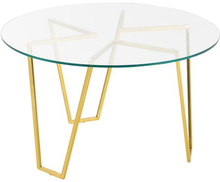 Table basse ronde en verre Scarlett