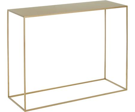 Messingkleurige metalen sidetable Tensio
