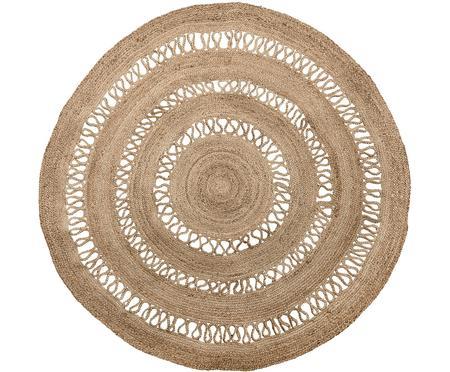 Okrągły dywan z juty Benita