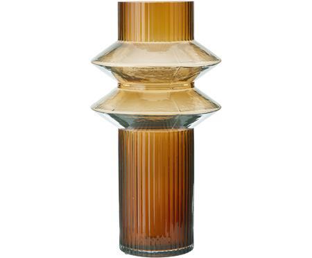 Transparente Glas-Vase Rilla mit Bernsteinschimmer