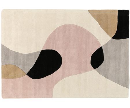 Handgetufteter Wollteppich Matrix Arc mit geometrischem Muster