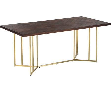 Mesa de comedor Luca, tablero de madera maciza