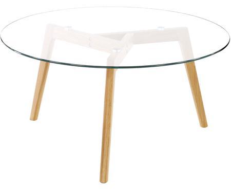 Mesa de centro redonda Bloom, tablero de cristal