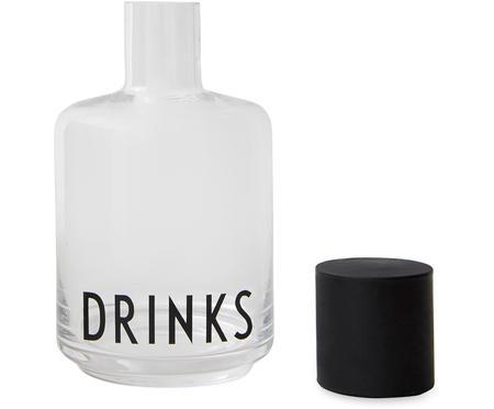 Design Karaffe Drinks mit Schriftzug, 500 ml