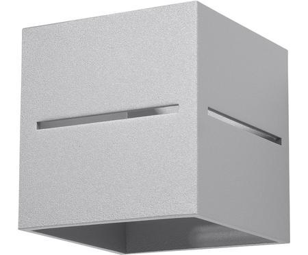 Applique en aluminium gris clair Lorum