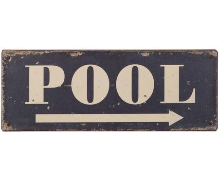 Wandschild Pool