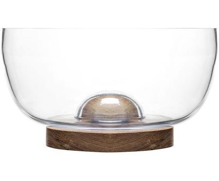 Insalatiera in vetro e legno di quercia Eden