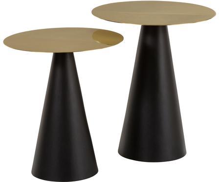 Ensemble de tables d'appoint en métal Zelda, 2 élém.