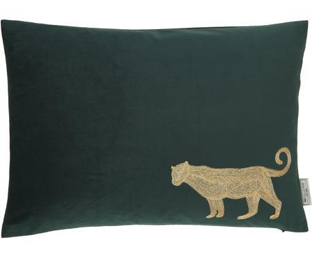 Cuscino con imbottitura in velluto Single Leopard