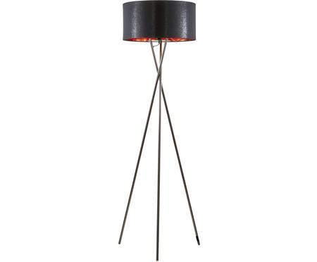 Tripod Stehlampe Giovanna mit Kupfer-Dekor