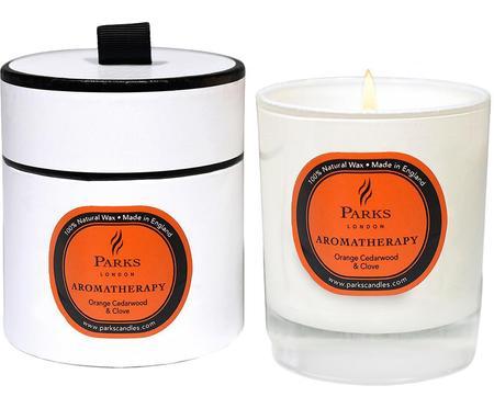 Vela perfumada Aromatherapy (naranja, cedro, clavo)