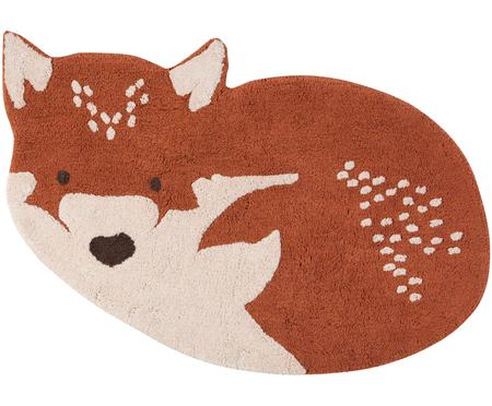 Tappeto volpe in cotone Little Wolf