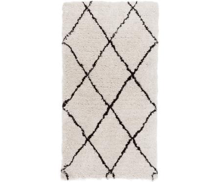 Ručně všívaný načechraný koberec s vysokým vlasem Naima