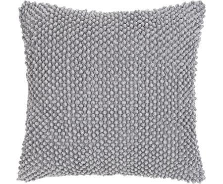 Kissenhülle Indi mit strukturierter Oberfläche in Grau