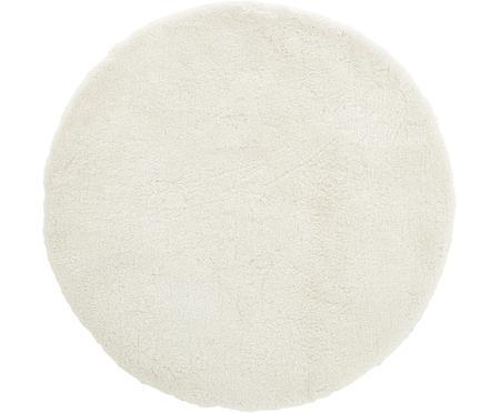 Flauschiger runder Hochflor-Teppich Leighton in Creme