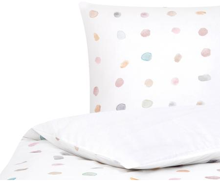 Baumwollperkal-Bettwäsche Sally mit bunten Punkten