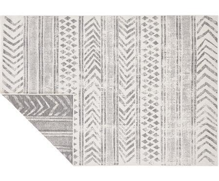 Dubbelzijdig in- en outdoor vloerkleed Biri met grafisch patroon
