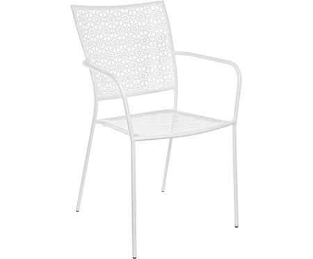 Krzesło ogrodowe z metalu z podłokietnikami Jodie
