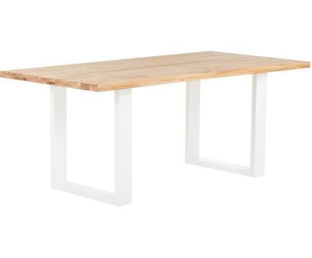 Table avec plateau en bois massif Oliver
