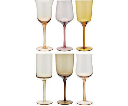 Große mundgeblasene Weingläser Desigual in unterschiedlichen Formen, 6er-Set