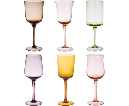 Bicchiere da vino rosso in vetro soffiato Desigual, set di 6