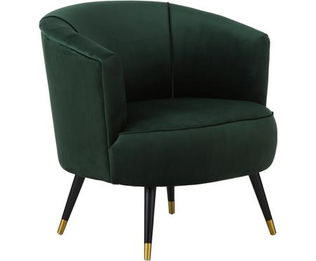 Fauteuil cocktail en velours Ella