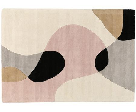 Ręcznie tuftowany dywan z wełny Matrix Arc